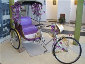 The Bangkok Sarm Lor or three wheeler tricycle are a rarity now