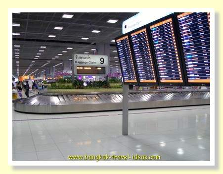Bangkok airport luggage carousels