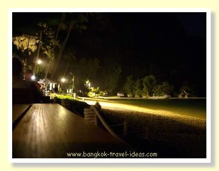 Best Thailand beach at night near to Ao Nang