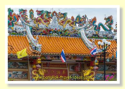 Chinese temple at Nonthaburi on the Chaophraya River