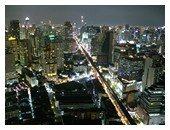 Bangkok city at night