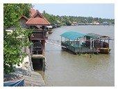 Bangkok River photograph near Amphawa floating market
