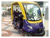 Thai Airways First Class passenger's electric car at Suvarnabhumi Airport