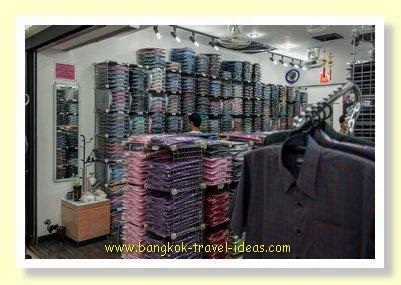 Bangkok shirt shopping success in Pratunam