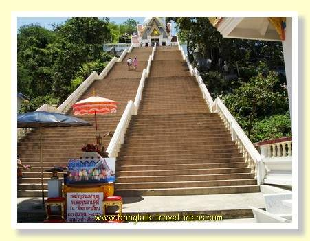 Buddhist Temple steps at Khao Takieb near Hua Hin