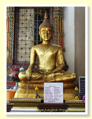 Buddha image in Bangkok temple