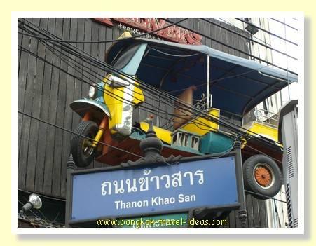 Tuk tuk in the Khaosan Road area of Bangkok