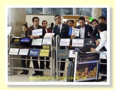 Bangkok 5 star hotel greeters waiting to meet you at Bangkok Airport