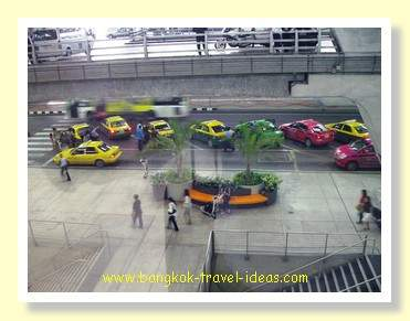 Bangkok Airport taxi rank on the ground floor