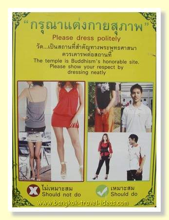 What to wear in a Thailand Buddhist Temple