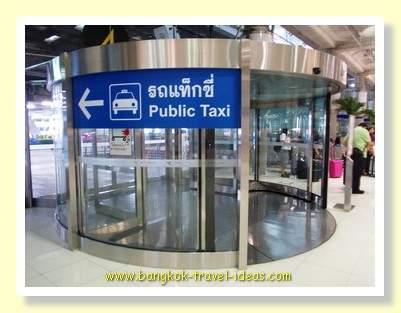 Public taxi exit at Suvarnabhumi Airport