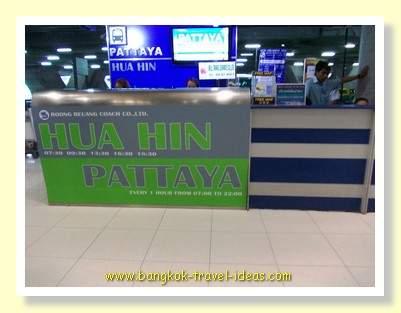 Hua Hin and Pattaya desk at Suvarnabhumi Airport