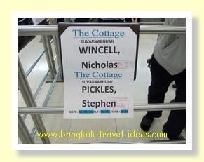The Cottage Suvarnabhumi Airport hotel greeting board