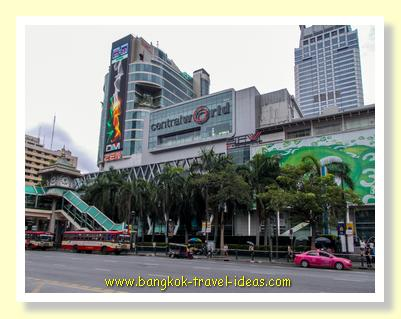 Looking left to Central World shopping mall