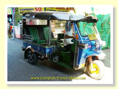 Bangkok tuk-tuk still can be found in the main tourist areas