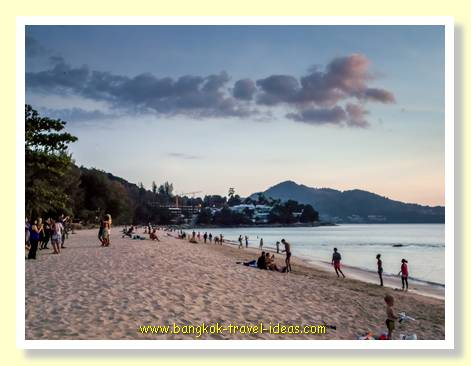 Karon Beach Phuket in the evening
