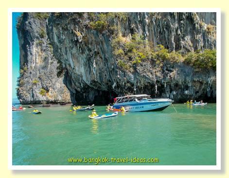 Canoes in Phang-Na