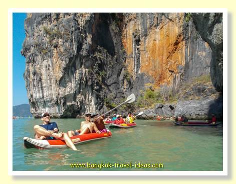 Phuket canoes