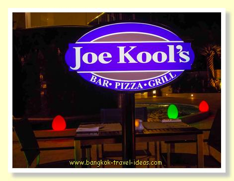 Dinner at Joe Kool's restaurant at the Novotel Karon Beach, Phuket