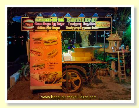 Thai food cart at Karon Beach, Phuket