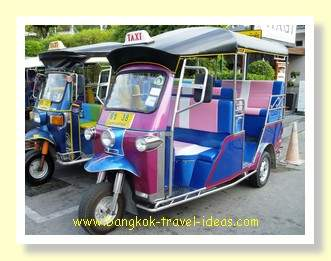 Tuk tuk at Hua Hin near to the Hilton Hotel