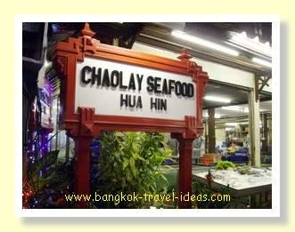 Chao Lay seafood restaurant at Hua Hin