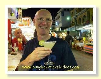 Sipping on cocktail at the Hua Hin night market