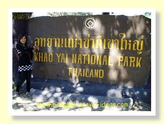 Khao Yai national park entrance sign