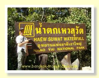 Haew Suwat waterfall in the Khao Yai National Park