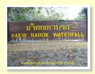 Haew Narok waterall sign