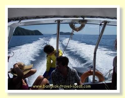 Koh Chang bound on the Kai Bae speedboat
