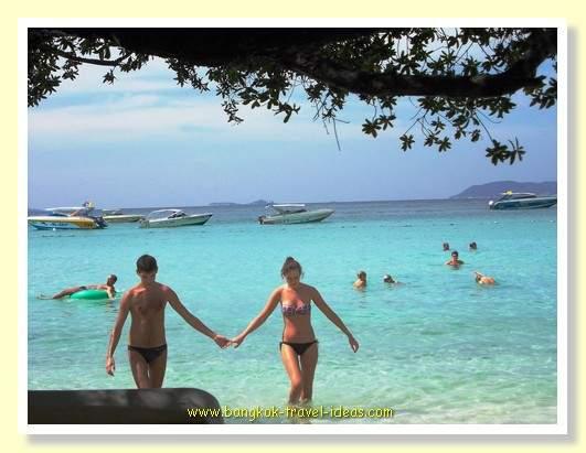 Swimming at Koh Lan