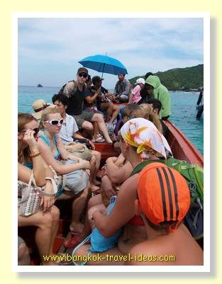 Crammed onto the tender boat at Tien Beach
