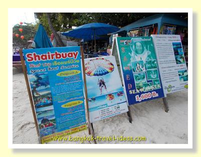 Watersports and snorkeling tours on Koh Samet