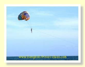 Paragliding is one of the water sports for the adventurous