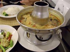 Tom Yam Gung soup, just a little bit spicy