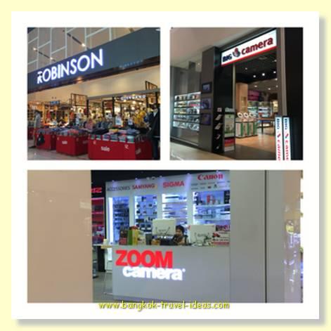 Mega Bang Na shopping mall has  a couple of great photographic shops
