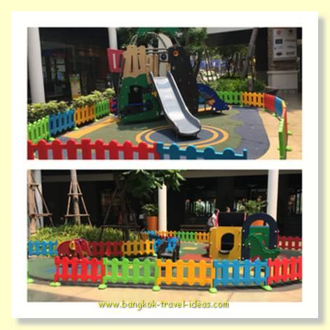 Small children love Mega Bang Na shopping mall