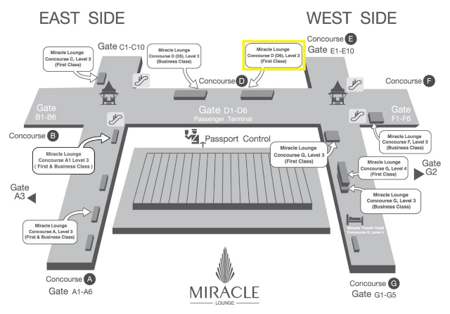 Map of the Miracle Transit hotel location in Bangkok