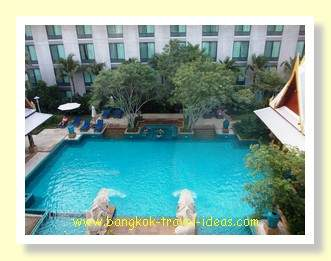 View of the pool from the Executive room