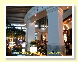 Bar area in the foyer of the hotel