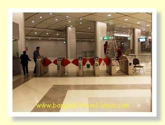 Airport express turnstiles