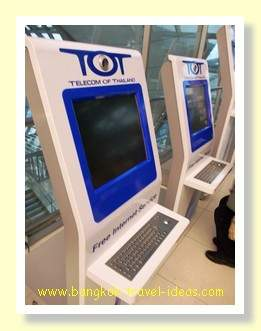 Internet stations at Suvarnabhumi Airport