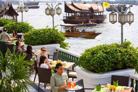 Oriental Hotel river terrace, take cocktails and sit and watch the boats go by
