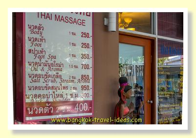 Paseo mall Thai Massage prices