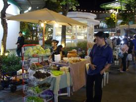 Take in the atmosphere this Bangkok night market,