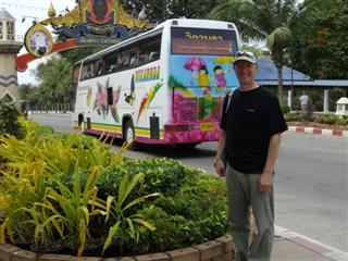 Pattaya Beach Road where the tourists arrive to enjoy the sun and sea