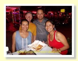 Banana roti at the 69 bar in Pattaya