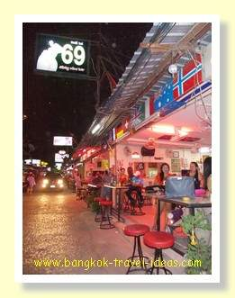 69 bar in the Pattaya beer bar complex, opposite Central Festival Pattaya beach shopping mall