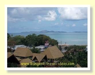 Koh Larn in the distance, viewed from the Centara Grand Mirage Beach Resort, Pattaya